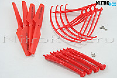 Комплект красный SYMA X5S, X5SW, X5SC