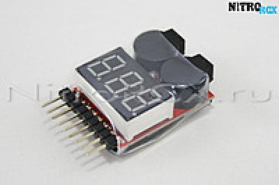 Тестер-сигнализатор разрядки Li-Po (1-8 банок)