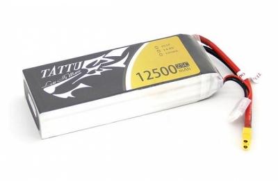 аккумулятор силовой стандарт 14.8v 12500mah 25c lipo 4s gens ace tattu (силовой разъем xt60)