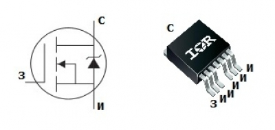 mosfet транзистор irf1405zs-7p