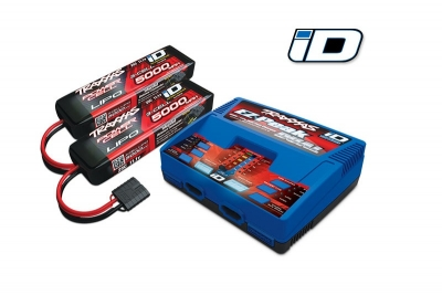 ez-peak plus 4-amp nimh/lipo (dual output) + 2 batteries 11.1v 5000mah