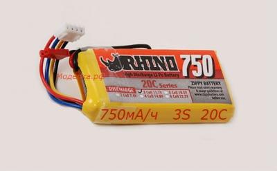 Lipo Rhino 750mAh 11.1v 20C.