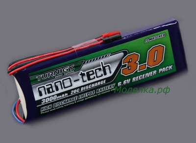 LiFe аккумулятор 3000mAh 2S 20~40C для борта.