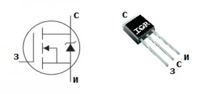 MOSFET транзистор IRFU3504Z