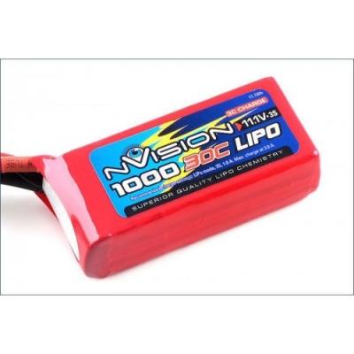 li-po 11.1v(3s) 1000mah 30 soft case deans plug x