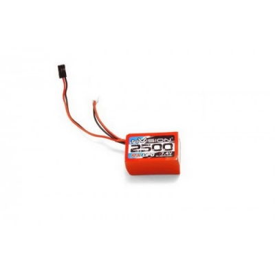 li-po 7.4v(2s) 2500mah jr plug soft case hump pack