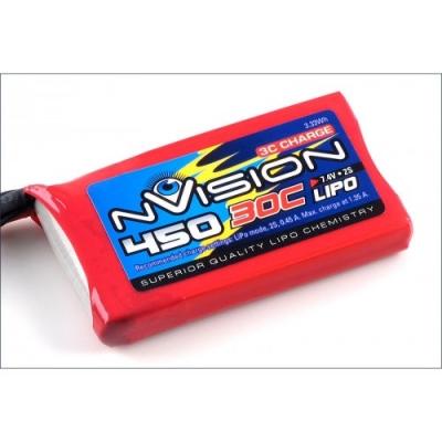 li-po 7.4v(2s) 450mah 30c 7.4v jst bec plug soft case