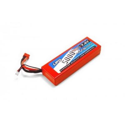 li-po 7.4v(2s) 5000mah 45c 7.4v 2s deans plug hard case