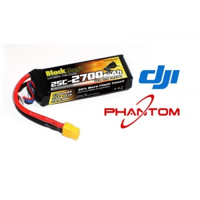 lipo 11,1в(3s) 2700mah 25c soft case xt-60 plug for dji phantom