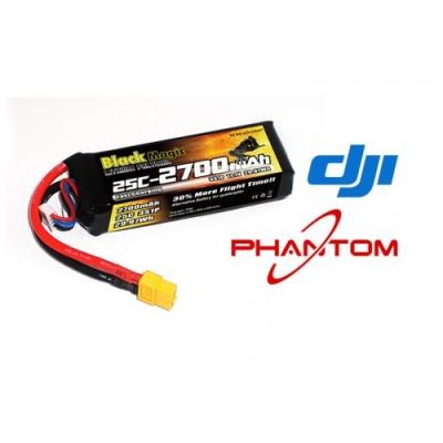lipo 11,1в(3s) 2700mah 25c soft case xt-60 plug for dji phantom