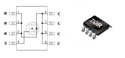 MOSFET транзистор IRF7607