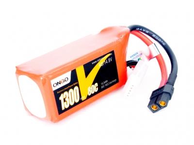 onbo graphene 1300mah 4s 80c lipo pack