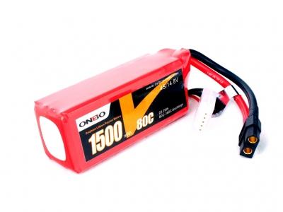 onbo graphene 1500mah 4s 80c lipo pack