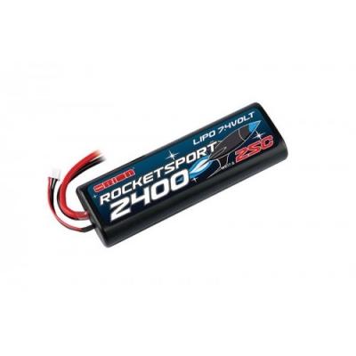 rocket sport lipo 7,4в(2s) 2400mah 25c hard case venom uni plug