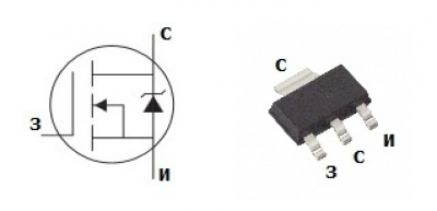 MOSFET транзистор IRLL024N