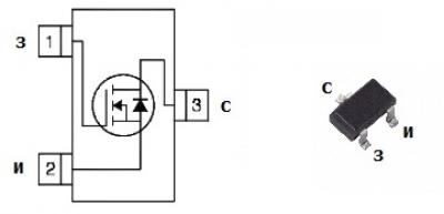 MOSFET транзистор IRLML0060
