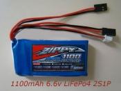 LiFe 1100mAh 6.6v 2S 10C