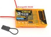 OrangeRX RX3S 3-осевой стабилизатор полета с приемником.