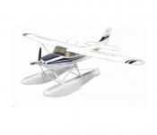 Радиоуправляемый самолет Art-tech Cessna Blue 182 400 Class с лыжами 2.4G - 2101Y