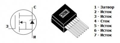 mosfet транзистор irf1405zl-7p